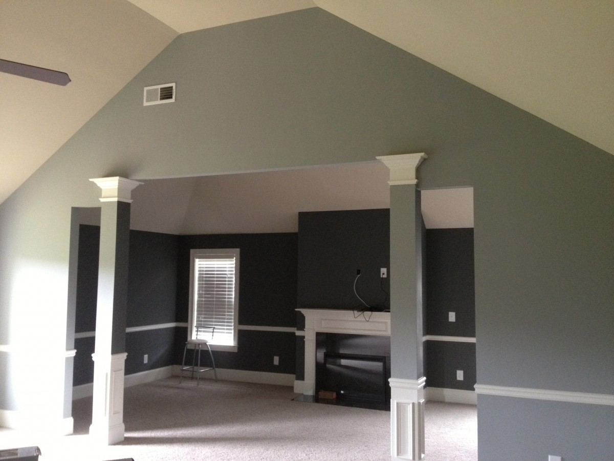 Residential house painting exterior interior painter greenwave solutions - Exterior paint on interior gallery ...